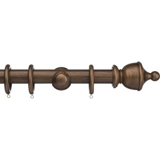 Integra Masterpiece 35mm Burnished Bronze Effect Wood Curtain Pole