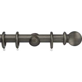 Integra Masterpiece 35mm Pewter Effect Wood Curtain Pole