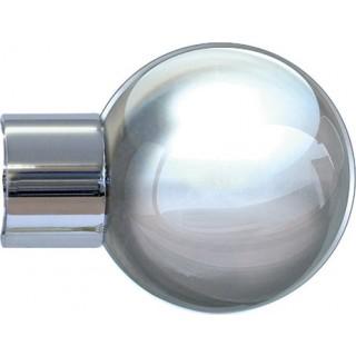 Jones Strand 35mm Chrome Effect Metal Ball Finials (1 pair)
