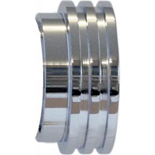Jones Strand 35mm Chrome Effect Ribbed End Stopper Finials (1 pair)