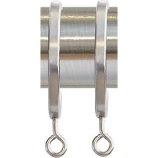 Jones Strand 35mm Matt Nickel Effect Rings (Pack of 6)