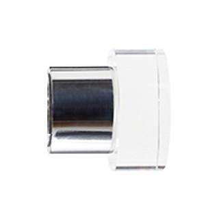 Jones Strand 35mm Chrome Acrylic End Stopper Finials (Pair)