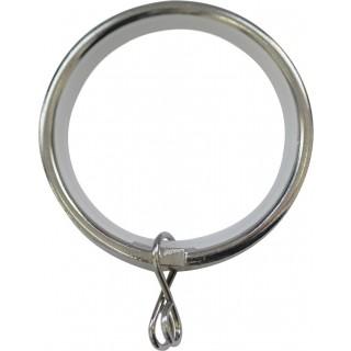Jones Cosmos 28mm Chrome Effect Rings (Pack of 6)