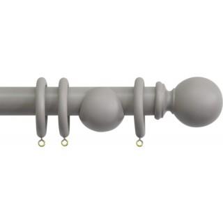 Jones Shore Ball 35mm Clay Wood Curtain Pole