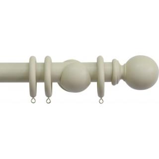 Jones Shore Ball 35mm Latte Wood Curtain Pole
