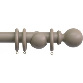 Jones Shore Ball 35mm Mushroom Wood Curtain Pole