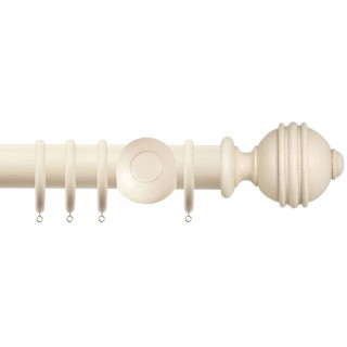 Jones Cathedral Ely 30mm Cotton Effect Wood Curtain Pole