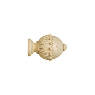 Jones Cathedral 30mm Ivory Effect Wells Finial (Single)