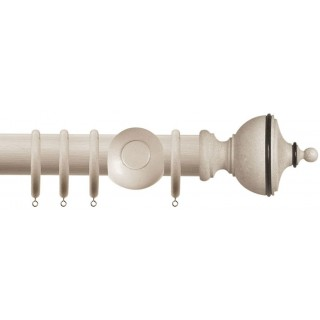 Jones Cathedral Exeter 30mm Putty Effect Wood Curtain Pole