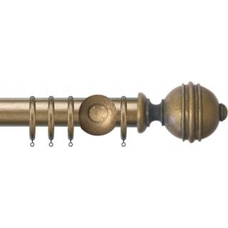 Jones Florentine Plain 50mm Antique Gold Effect Wood Curtain Pole
