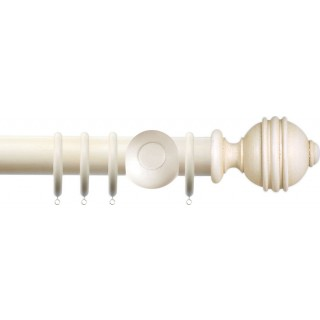 Jones Florentine Plain 50mm Cotton Effect Wood Curtain Pole
