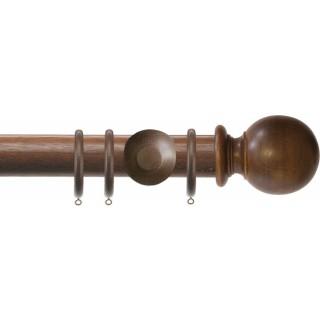 Jones Florentine Plain 50mm Oak Effect Wood Curtain Pole