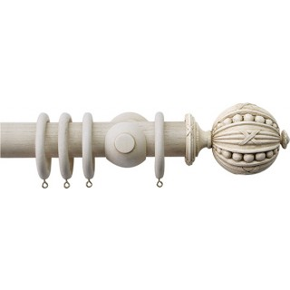 Jones Florentine Plain 50mm Putty Effect Wood Curtain Pole