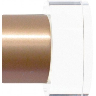 Jones Strand 35mm Rose Gold Acrylic End Stopper Finials (Pair)