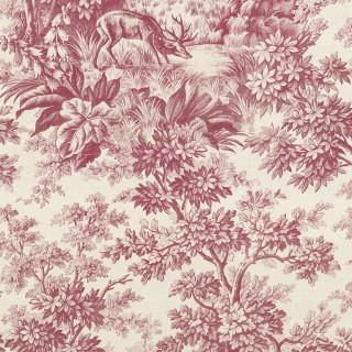 Stag Toile Wallpaper 0284SGBURGU by Little Greene