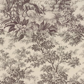 Stag Toile Wallpaper 0284SGCHOCO by Little Greene