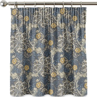 Morris Seaweed Fabric 224470 by William Morris & Co