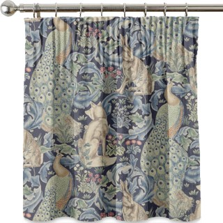 Forest Linen Fabric 222534 by William Morris & Co