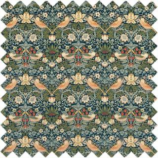 Strawberry Thief Velvet Fabric 236932 by William Morris & Co