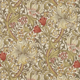 Golden Lily Wallpaper 210400 by William Morris & Co