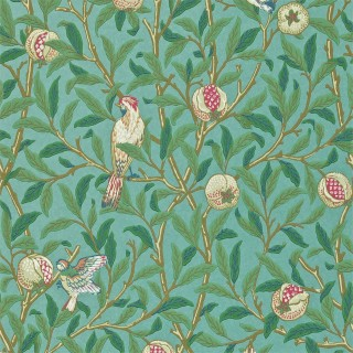 Bird & Pomegranate Wallpaper 216820 by William Morris & Co