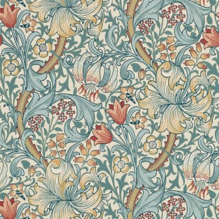 Golden Lily Wallpaper 216818 by William Morris & Co