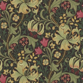 Golden Lily Wallpaper 216853 by William Morris & Co