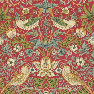Strawberry Thief Wallpaper 216848 by William Morris & Co