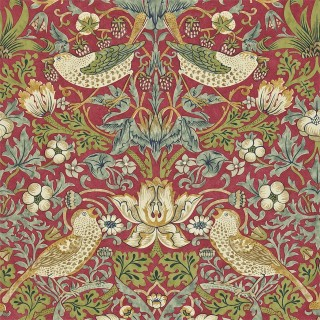 Strawberry Thief Wallpaper 212563 by William Morris & Co