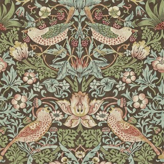 Strawberry Thief Wallpaper 212565 by William Morris & Co