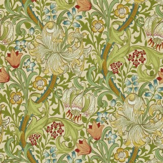 Golden Lily Wallpaper DMI1G3102 by William Morris & Co