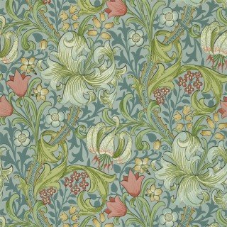 Golden Lily Wallpaper DMI1G3103 by William Morris & Co