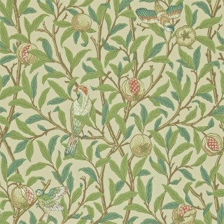 Bird & Pomegranate Wallpaper 216455 by William Morris & Co