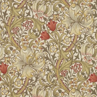 Golden Lily Wallpaper 216462 by William Morris & Co