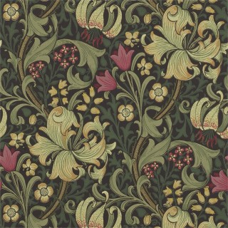 Golden Lily Wallpaper 216463 by William Morris & Co