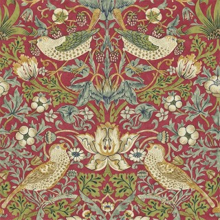 Strawberry Thief Wallpaper 216475 by William Morris & Co