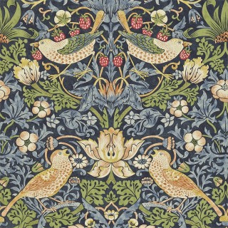 Strawberry Thief Wallpaper 216476 by William Morris & Co