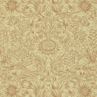 Sunflower Etch Wallpaper DMORSU101 by William Morris & Co