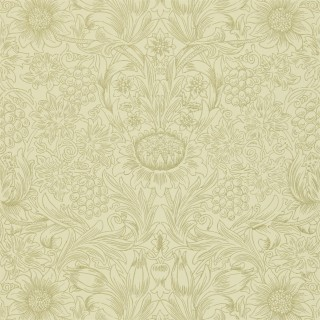 Sunflower Etch Wallpaper DMORSU105 by William Morris & Co