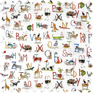 Prestigious Textiles Animal Alphabet Fabric 8628/335