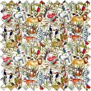 Prestigious Textiles King Of The Jungle Fabric 8630/677