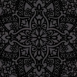 Black Edition Byzantine Flock Wallpaper W364/03