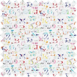 Alphabet Zoo Fabric 223910 by Sanderson