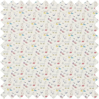 Dogs In Clogs Fabric 223907 by Sanderson