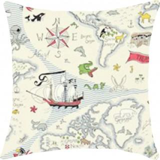 Treasure Map Fabric 223913 by Sanderson