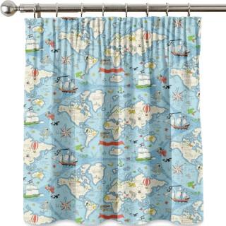 Treasure Map Fabric 223914 by Sanderson
