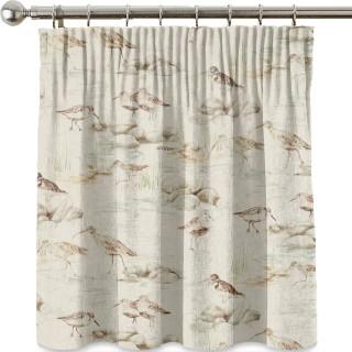 Estuary Birds Linen Fabric 226427 by Sanderson