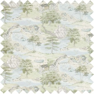 Sea Houses Fabric 226435 by Sanderson