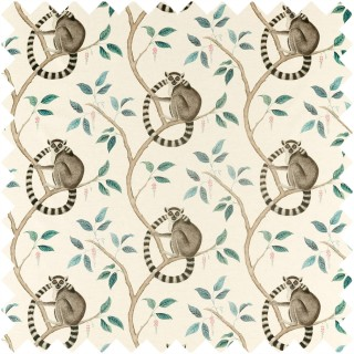 Ringtailed Lemur Fabric 226582 by Sanderson