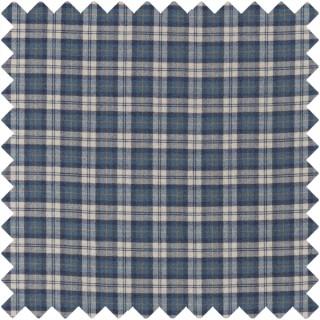 Fenton Check Fabric 236741 by Sanderson